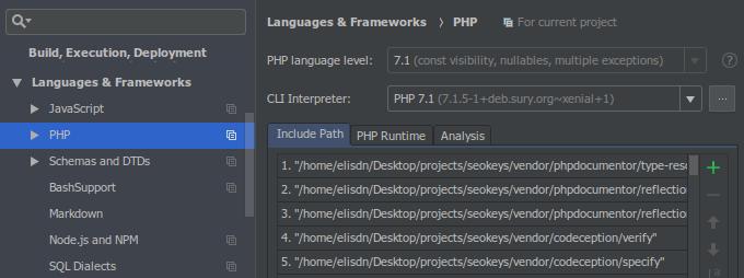 PhpStorm PHP Libraries