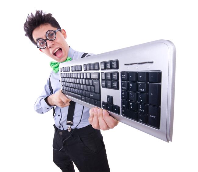 Парень с клавиатурой
